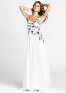 Avond Griekse jurk met borduurwerk