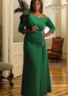 Avond groene jurk voor de volle grond
