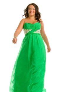 Avond felgroene jurk voor vol