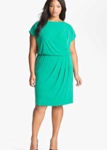 Avond groene jurk voor volledige kort