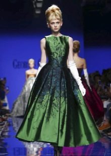 Midi Green Evening Dress