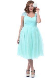 Mint jurk voor zwaarlijvig