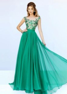 Beautiful green evening dress