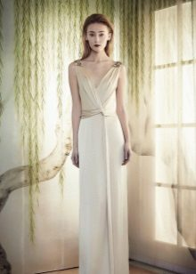 White evening dress mula Marcheza