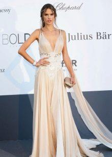 Rochie de seară stil grecesc alb