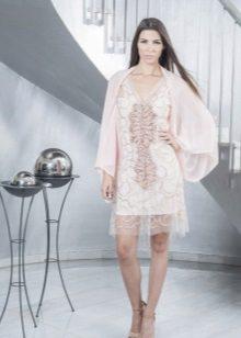 Scurta rochie seara cu mâneci largi