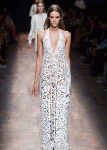 Valentino rochie albă dantelă