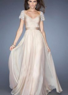 Cream evening gown