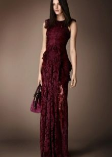 Bordeaux evening dress