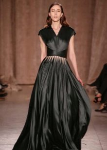 Black Closed Satin Dress