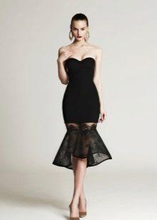 Short evening dress black