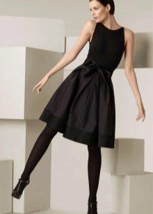 jurk met een volledige rokavond zwart door Donna Karan