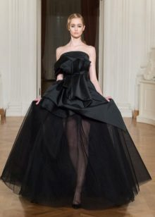 Avond satijn multi-tiered jurk