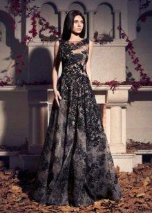 Zwarte kanten jurk prachtig