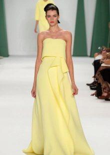 Iltapuku, Carolina Herrera keltainen