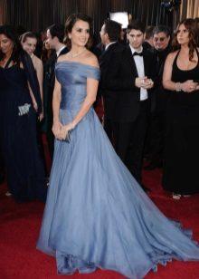 Armanin ilta-sininen ja harmaa mekko