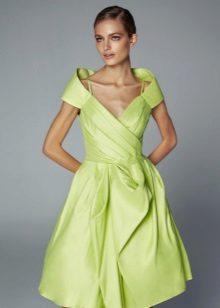 Evening vestido verde curto com saia justa