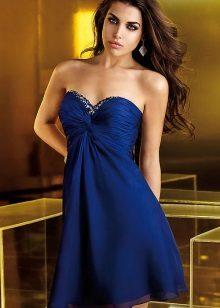 vestido de noite curto azul
