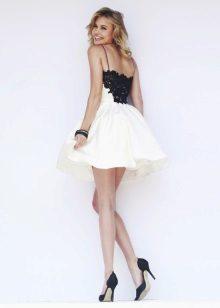 vestido de noite curto preto-e-branco