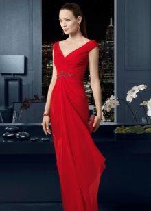 Rød aftenkjole af Rosa Klara