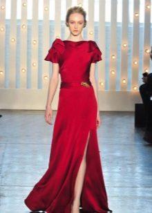 Jenny Peckham Red Closed-jurk