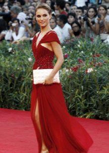 Rode avondjurk Natalie Portman