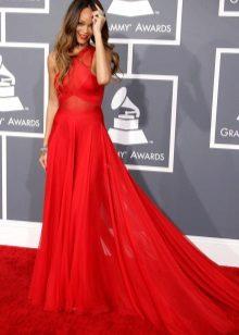 Red Evening Dress - Rihanna