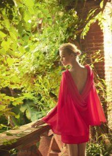 Punainen sifonki mekko
