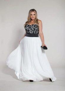 Vestit elegant de nit blanc de grans dimensions