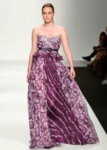 Vestit de nit elegant de color porpra clar de Elena Miro