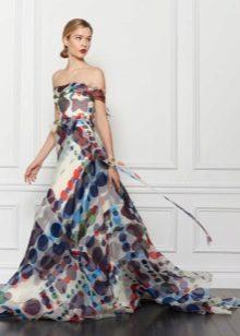 Evening vestido de chiffon barato