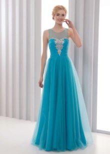Evening vestido azul barato