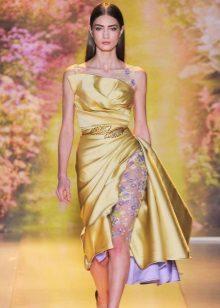 Pakaian Petang Emas Emas