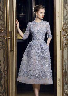 Midi Lace Evening Dress