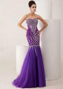 Vestido de noite sereia roxo