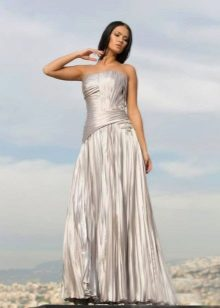 Vestido de noite com espartilho split