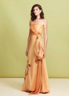 Vestido de noite com espartilho laranja