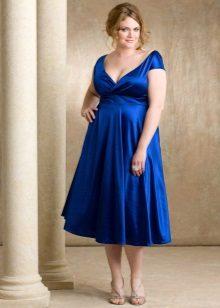 Vestit de nit blau brillant per a un casament complet