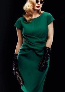 Vestit de punt verd fosc