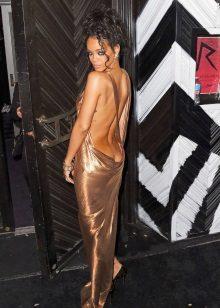 Vestido de noite com costas abertas Riana