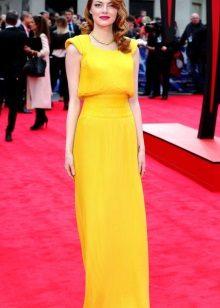 Emma kivi keltainen iltapuku