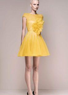 vestido de noite amarelo 2016