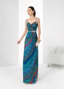 Vestido azul de Rosa