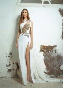 Vestido branco franco de noite 2016