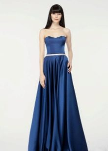 Vestido de noite azul simples