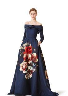 Vestido de noite com bolsos por Carolina Herera