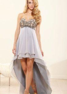 Vestido de baile 2016 Curto Frente Longo Voltar