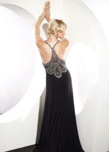 Vestido de noite de baile aberto