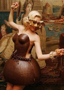 Vestit de xocolata curt