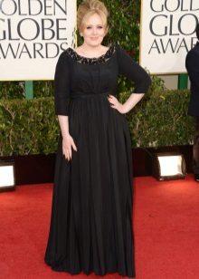 Vestido de noite preto para tamanho 56